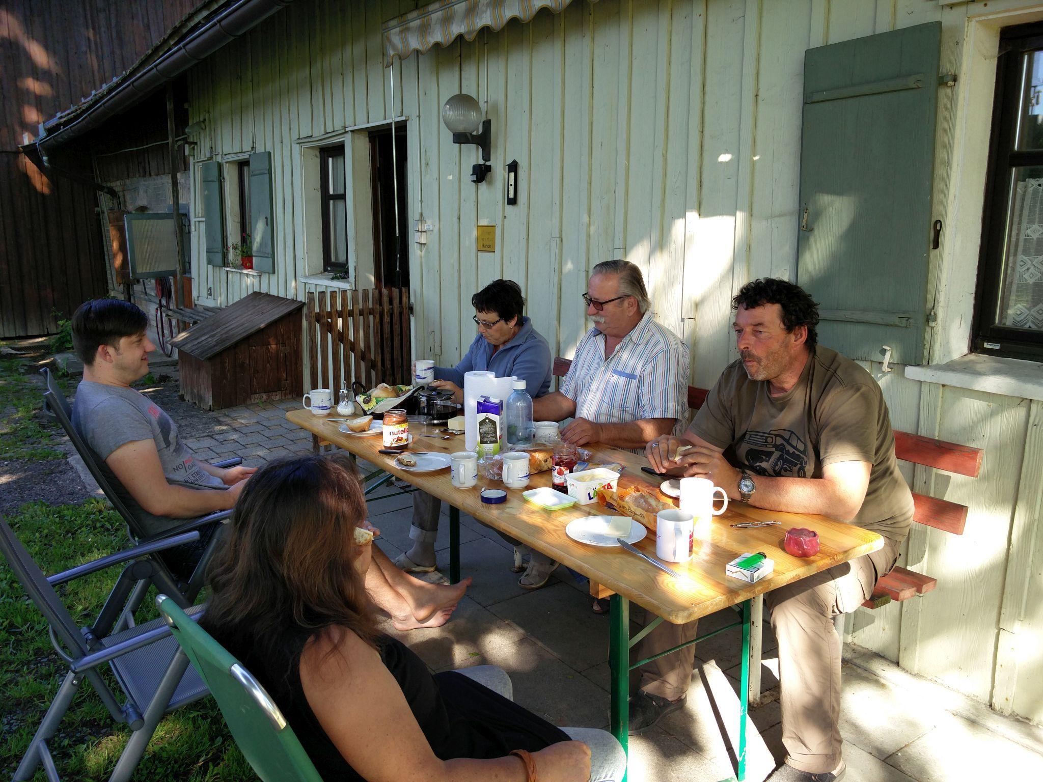 Spontanes Arbeits- und Grillwochenende in Opfenbach